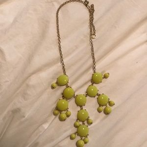 J. CREW Bauble Necklace, Green & Gold